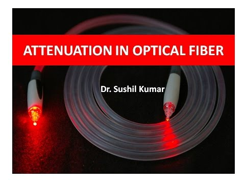 Attenuation Loss in Optical Fiber-A Numerical Problem