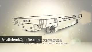 industrialtransfer trolleys manually loaded trolley battery powered flat car