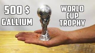 Making ' Silver ' World Cup Soccer Ball Trophy from Gallium