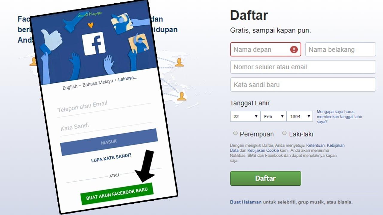 Cara Buat Akun Facebook Menggunakan Nomor Hp Youtube