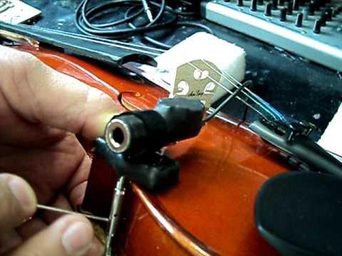 Violin Active Pickup Instalation