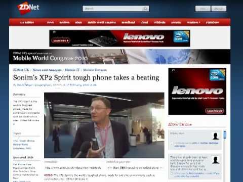 ZD Net Tests the Sonim XP2 Spirit