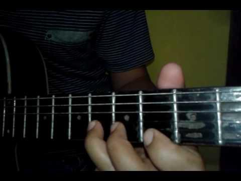 Belajar melodi gitar dangdut edan turun
