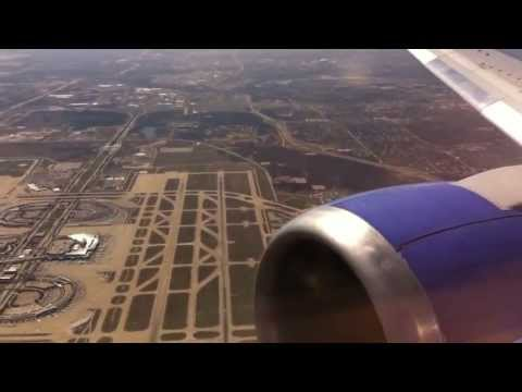 Awesome DFW View! Southwest Airlines 737-300 Landing in Dallas Love!