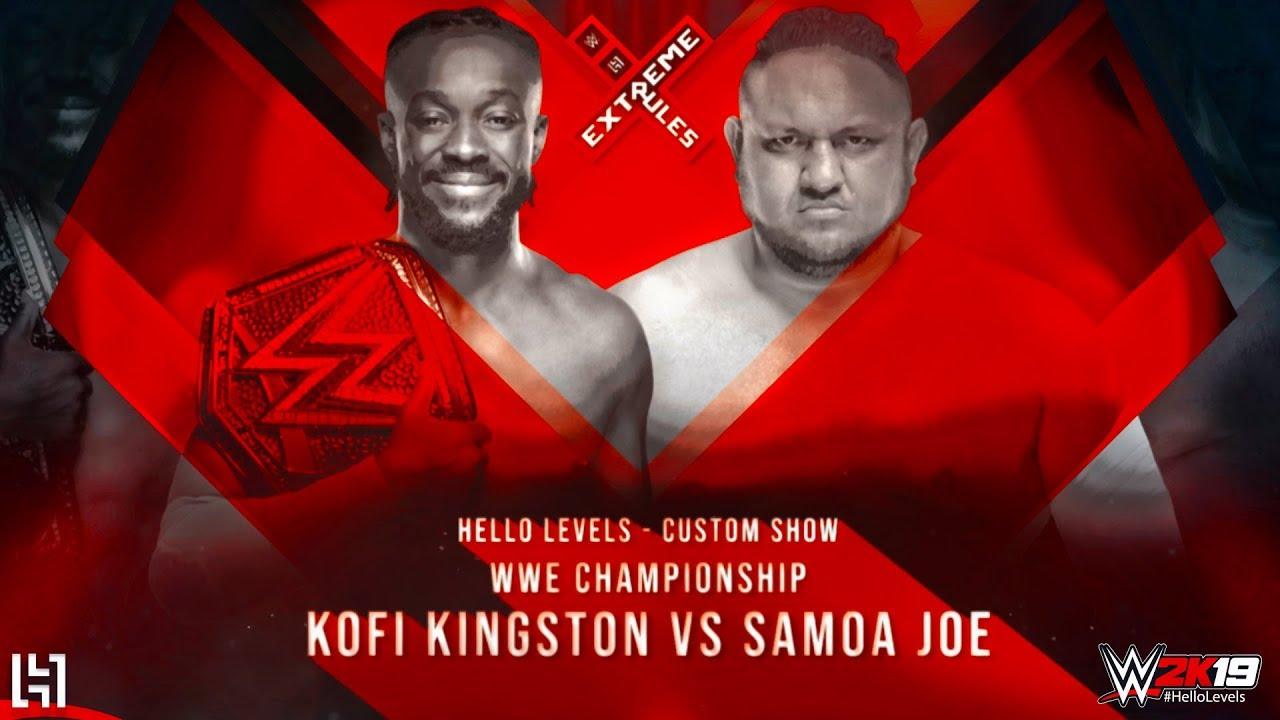 Download WWE 2K19 Kofi Kingston vs Samoa Joe - EXTREME RULES 2019 Match Gameplay