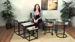 Krystal Collection Mirrored Glass Accent Tables by OSP Designs