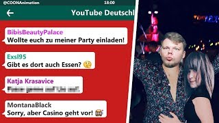 Die krasseste YouTuber Party des Jahres!? 😂 | YouTuber in einer WhatsApp Gruppe