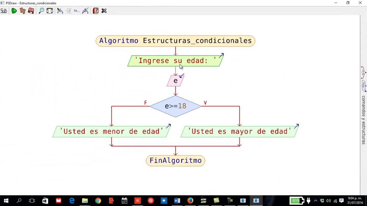 08 algoritmos con pseint estructuras condicionales sentencia 08 algoritmos con pseint estructuras condicionales sentencia condicional simple ccuart Images