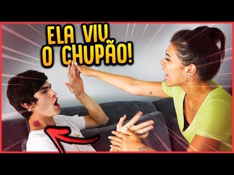 A CRUSH VIU UM CHUPÃO NO PESCOÇO DO MEU IRMÃO!! - TROLLANDO AMIGA [ REZENDE EVIL ]