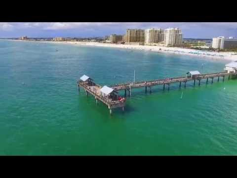 Clearwater beach by drone