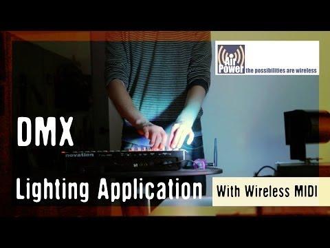 Wireless MIDI- AP2 DMX Lighting Application