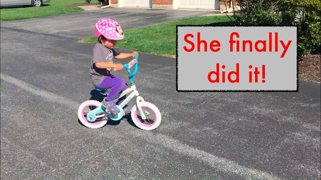Our Four Year Old Learns How to Ride a Bike!  From Strider to a Real Bike! | VLOG
