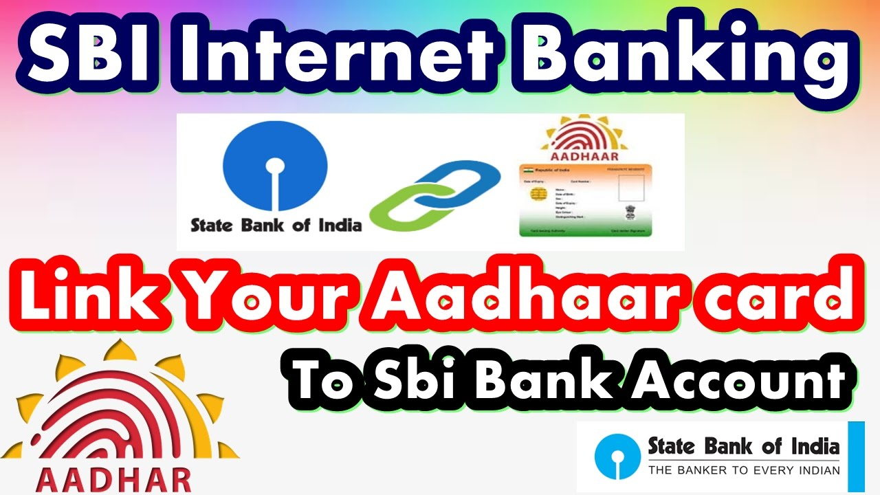 aadhar card link with state bank account online