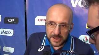 06-06-2014: Mauro Berruto dopo la vittoria sulla Polonia a Bari