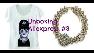 ALIEXPRESS - Unboxing #3 | T-Shirt de gata vintage e Colar Inspired Zara