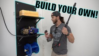 BUILDING THE ULTIMATE GARAGE PRESSURE WASHER DETAILING WALL!
