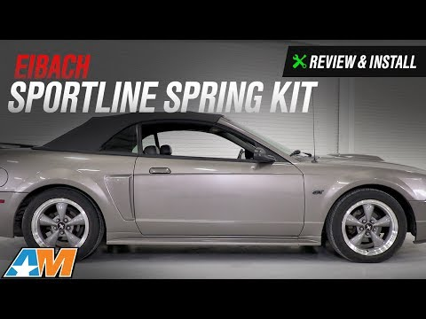 1979-2004 Mustang V8, V6, Cobra Eibach Sportline Spring Kit Review & Install