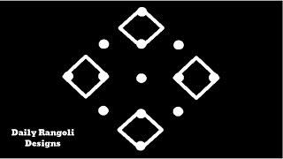 Beautiful Simple Padi Kolam Designs with 5X1 Dots |Easy Muggulu Kolam Rangoli |Easy Kolangal #955