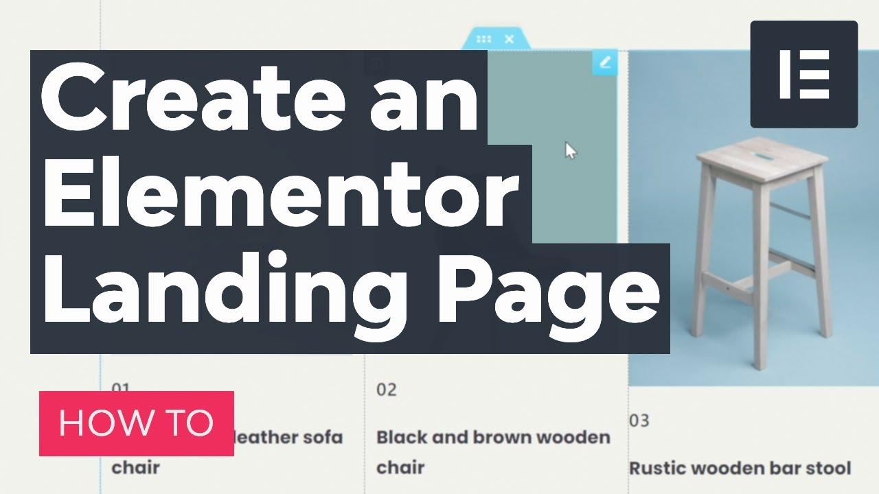 Create an Elementor Landing Page for WordPress