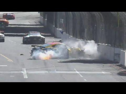 Pirelli World Challenge (GT/GTA/GTS/GTSA) 2018. Grand Prix of Long Beach. Mike Sullivan Huge Crash