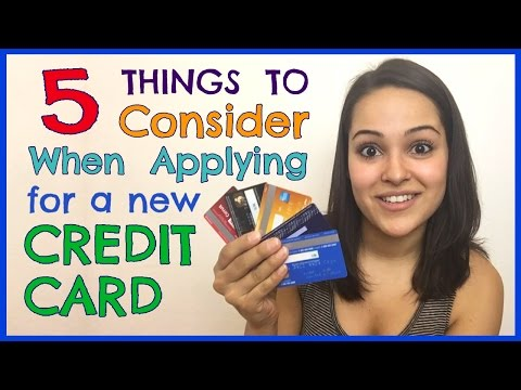 Things To Consider When Applying For Credit Card