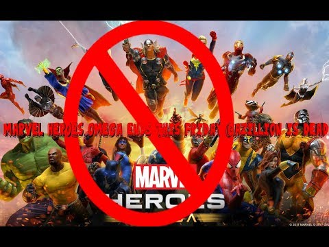 Marvel Heroes Omega Ends This Friday!! Nov 24, Gazillion is Dead!!