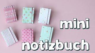 Mini Notizbuch basteln mit Papier