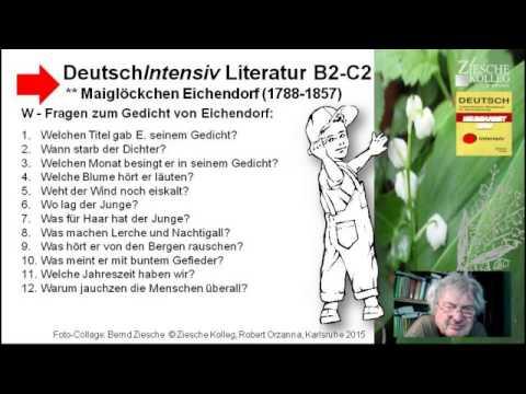 b2 w fragen zum gedicht eichendorf maigl ckchen youtube. Black Bedroom Furniture Sets. Home Design Ideas