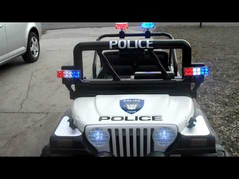 Custom Power Wheels Police Jeep Dec 2011