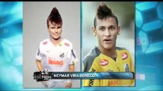 Craque Neymar vira boneco - VIDEO NEWS [14-07-2011] BAND