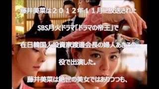 日本人女優藤井美菜が過去に韓国ドラマに出演していたことが話題となっ...