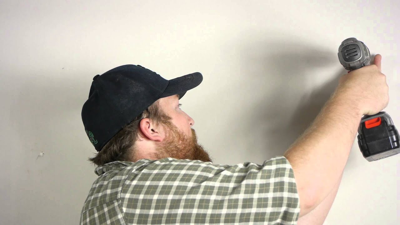 How To Hang Curtain Rods On Drywall Wall Repair Youtube