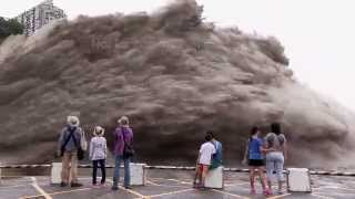 Typhoon Dujuan Controlled Flood Water Release