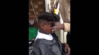 Kid cry's when getting his hair cut