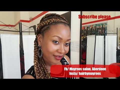 Hair salon Vlog// Ghana braids.