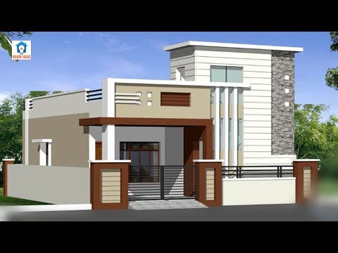 Top 30 single floor house elevation designs | front