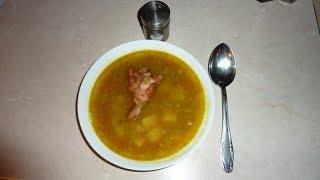 Гороховый суп с копчёными куриными крылышками