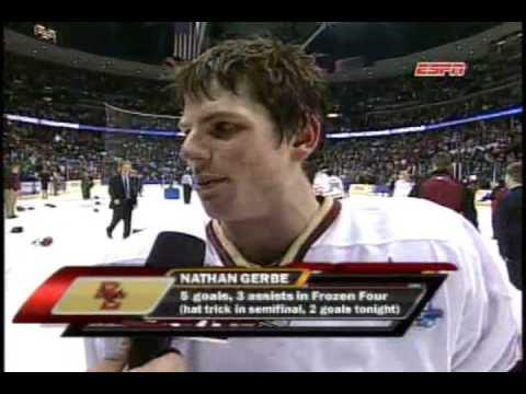Boston College wins the 2008 NCAA Division 1 Hockey Championship
