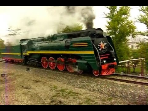 Паровоз П36-0031 набирает скорость