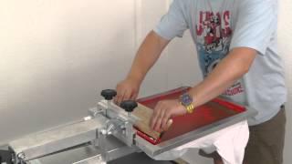 Siebdruck - zweifarbig - Silver Press Karusselll