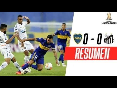 Boca Juniors - Santos [0-0] | RESUMEN | SEMIFINALES (Ida) | CONMEBOL Libertadores 2020