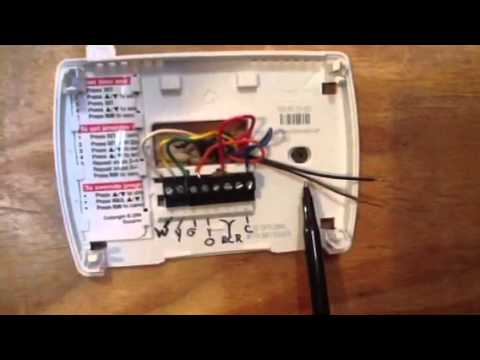 thermostat wiring made simple youtube rh youtube com thermostat wiring diagram honeywell rth2300 thermostat wiring honeywell ct31a1003