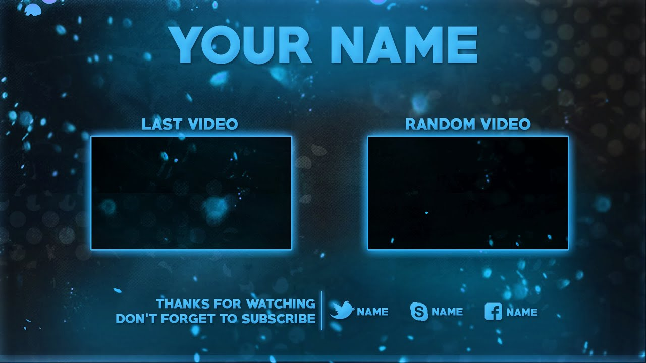 2D Outro Template PSD (Photoshop) | New 2016 - YouTube