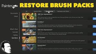 How to Restore Purchased Corel Painter Brush Packs