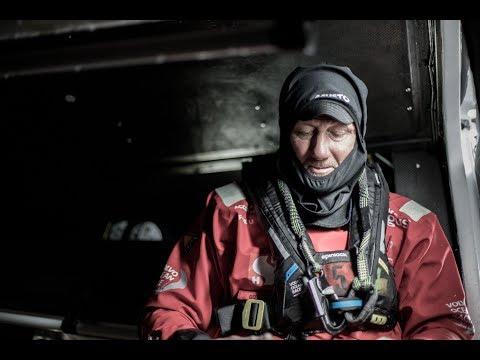 Man overboord in de Volvo Ocean Race: John Fisher - Scallywag