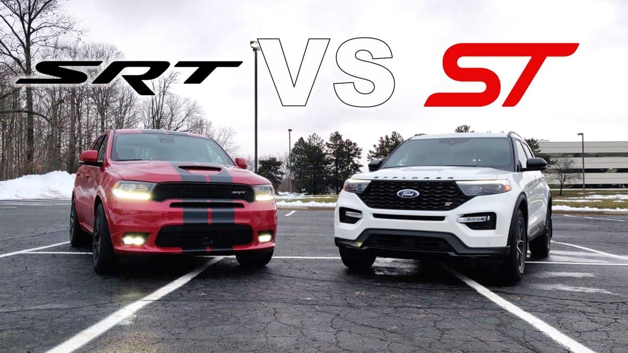 dodge durango srt vs ford explorer st 2 Dodge Durango SRT vs 2 Ford Explorer ST  Is The V2 Worth $2,2  More?