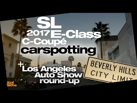 Carspotting in California & the new SL at the LA Auto Show (German)