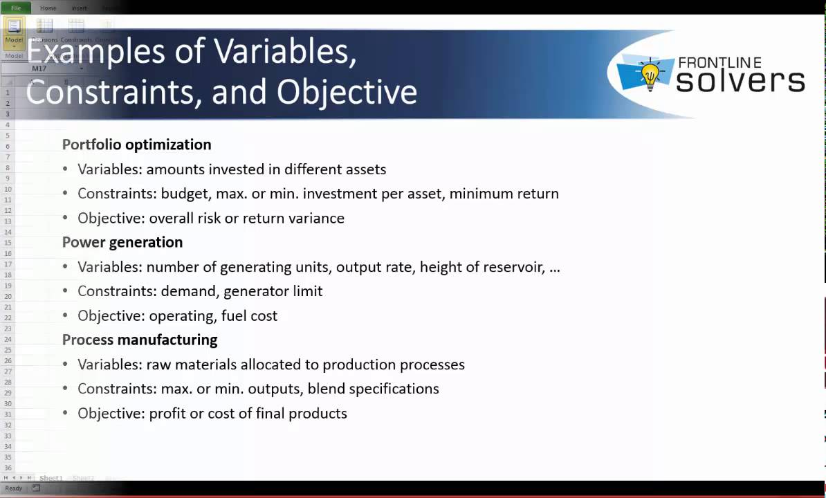 Optimization Model Components Overview - YouTube