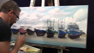 "Time lapse painting ""Next to each other"""