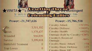 Clash of kings- k1341 defending Rallies \u0026 Reseting throne 😎 against monsters..